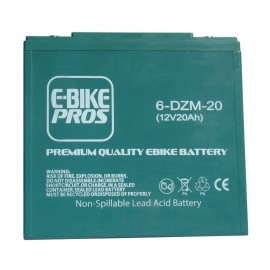 Battery 12V20AH 6DZM20 EBIKE PROS WITH SCREW TERMINALS FOR 12 VOLT 24 VOLT 36 VOLT 48 VOLT 60 VOLT 72 VOLT 84 VOLT 96 VOLT EBIKES AND ELECTRIC SCOOTERS