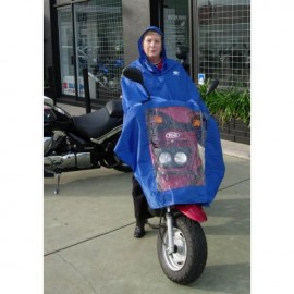 COVER RAIN PONCHO FOR RIDER WATERPROOF CAN BE USED AS A PARTIAL COVER FOR EBIKE AND FULL COVER FOR RIDER