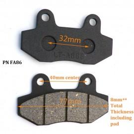 Brake Pads - Universal 8MM THICKNESS