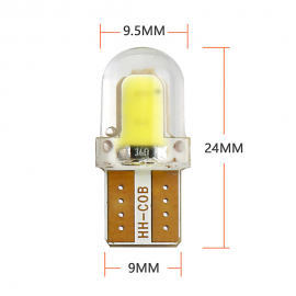 BULB Turn Signal COB LED 12V 5W White Wedge replacement for Ebike Pros, Emmo, Daymak, Gio, and Universal Replaces a standard wedge bulb
