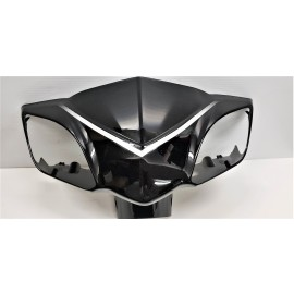 Gemini Front Fairing for Signal Lights with Mirror Mounts BLACK  Gemini 48 volt 60 volt ebike scooter daymak scooter emmo scooter tao tao gio