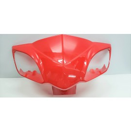 Gemini Front Fairing for Signal Lights with Mirror Mounts RED  Gemini 48 volt 60 volt ebike scooter daymak scooter emmo scooter tao tao gio