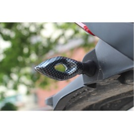 Turn Signals lights LED Carbon Universal Fit Ebike Pros Chopper, Force, Daymak, Emmo, Tao Tao Universal